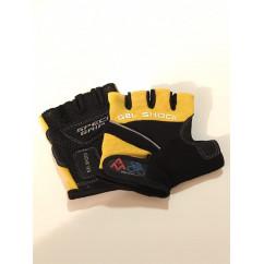 """Перчатки вело """"Gel Shock"""" (без пальцев, гелевые, черно-желтые, size:S)"""