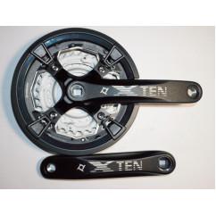 Шатун система,PROWHEEL XTEN, алюминиевая mod:851P 24-32-44 зуб (12) , черный