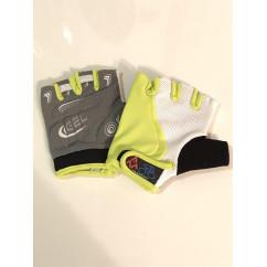 """Перчатки вело """"Traders"""" (без пальцев, гелевые, черно-салатово-белые, size:M)"""