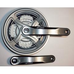 Шатун система, PROWHEEL, алюминиевая mod:CN99 28-38-48 зуб (10) , черно-серый