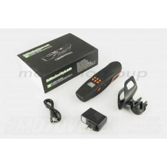Аудиосистема велосипедная на руль (влагостойкая, фонарик, рация, МР3/USB/SD/Bluetooth/FM-радио) (mod:AV126-O) NEO