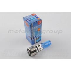 Лампа BA20D (2 уса) 12V 18W/18W (супер белая) BEST (mod:A)