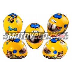Шлем детский интеграл (желтый) (MULT)