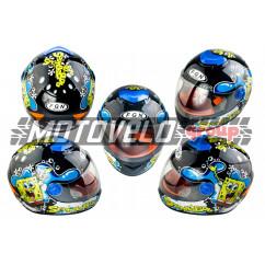 Шлем детский интеграл (черный) (SPONGE BOB) FGN