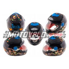 Шлем детский интеграл (черный) (MULT) FGN