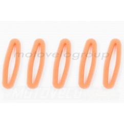Элемент воздушного фильтра мотокосы круглый (поролон с пропиткой, 5шт) (красный) AS