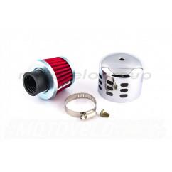 Фильтр воздушный (нулевик) Ø28mm колокол (хром) ZV