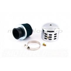 Фильтр воздушный (нулевик) Ø35mm колокол (хром) ZV