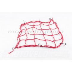 Сетка багажника (паук) (красная) KOMATCU