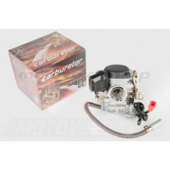 Карбюратор 4T GY6 80 (+топливный фильтр, пластмассовая крышка) SUNY