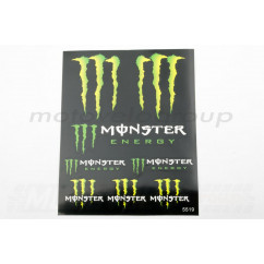 Наклейки (набор) спонсор MONSTER ENERGY (25х21см) (#5519)