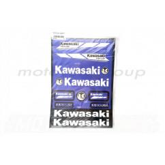 Наклейки (набор) KAWASAKI (32х23см, синие) (#6000B)