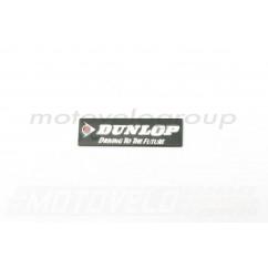 Наклейка шильдик DUNLOP (12х4см, хром) (#4501)