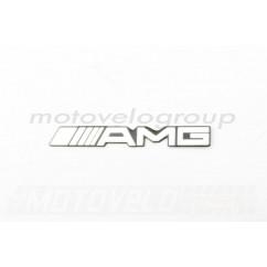 Наклейка шильдик AMG (14х2см, хром) (#4569)
