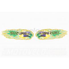 Наклейки (набор) SUZUKI (19х6см, зеленые) (#5794)