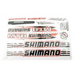 Наклейки (набор) спонсор SHIMANO (37х24см) (#B15)