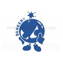Наклейка декор DANGER (16х12см, синяя) (#0739)