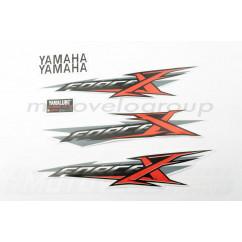 Наклейки (набор) Yamaha X-FORCE (30х6см, красные) (#7438)