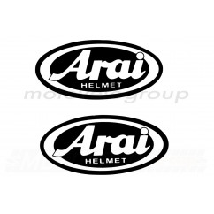 Наклейка логотип ARAI (9x4,5см, черная) (#1871)
