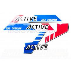 Наклейки (набор) ACIVE (сине-красные) (#2493)