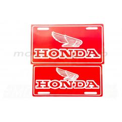 Наклейка декор (mod:Honda 21x9.7см, красная) (#4299A)