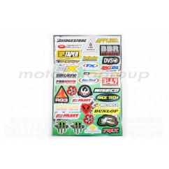 Наклейки (набор) спонсоры, мультибренд (30х45см) (#5989K)