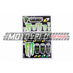 Наклейки (набор) спонсор MONSTER ENERGY (30х45см) (#5989A)