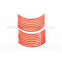Наклейка на колесо 10 декор (16шт, красная) (#6054Ф)