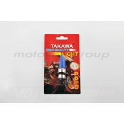 Лампа P15D-25-3 (3 уса) 12V 35W/35W (супер белая, конусная) TAKAWA