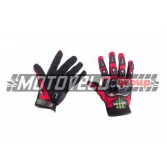 """Перчатки """"MONSTER ENERGY"""" (size:L, красные)"""