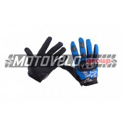 Перчатки (size:M, синие)