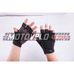 Перчатки без пальцев (size:L, черные) FOX