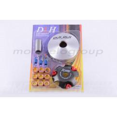 Вариатор передний (тюнинг) Honda DIO AF18 (ролики латунь 9шт, палец, пр. сцепления) DLH