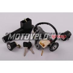 Замок зажигания (комплект) Suzuki LETS II (4 провода) EURORUN